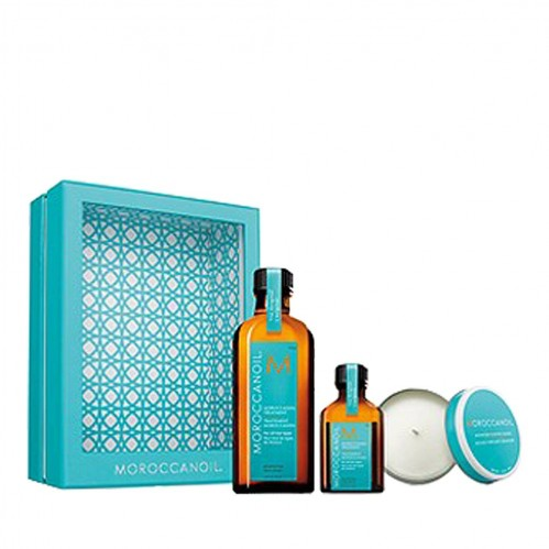 Moroccanoil Treatment – Home & Away Set with Candle
