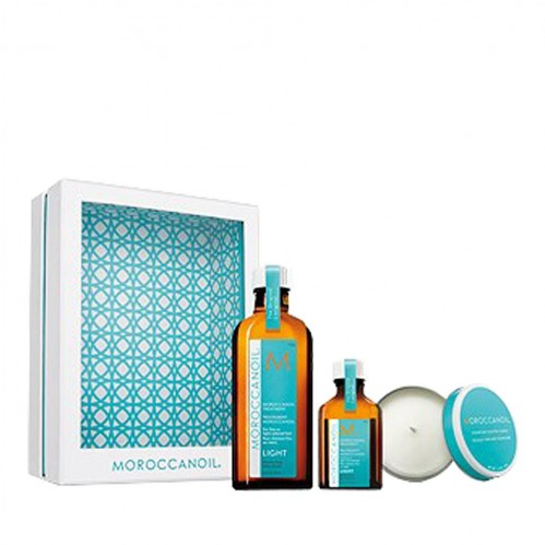 Moroccanoil Treatment Light – Home & Away Set with Candle