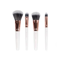 Brushworks White & Gold Travel Makeup Brush Set