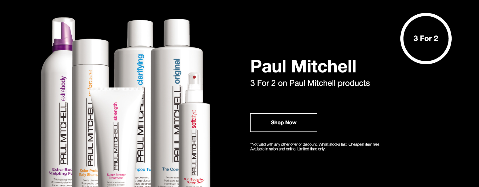 Paul Mitchell 3 for 2