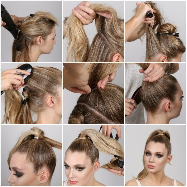 supercuts step by step high ponytail - Copy