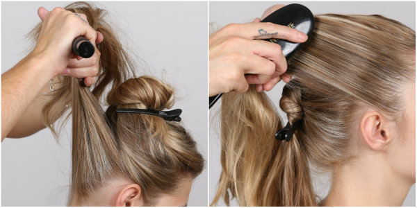 samurai bun how to steps 3-4