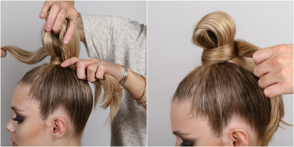 samurai bun how to steps 7-8
