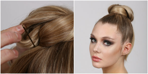 samurai bun how to steps 9-10