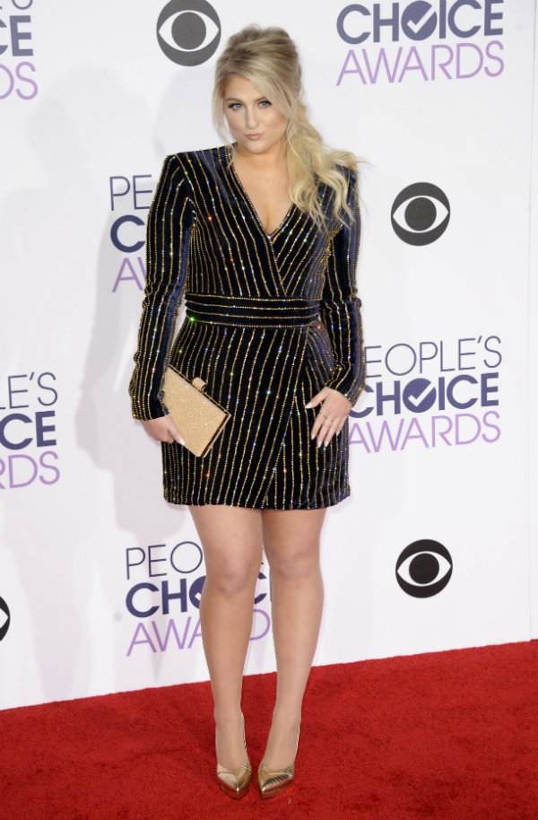 meghan trainor people's choice awards 2016