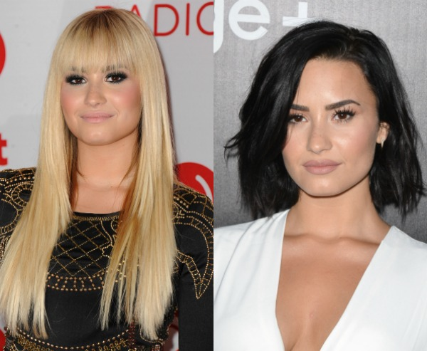Blonde vs Brunette Demi Lovato