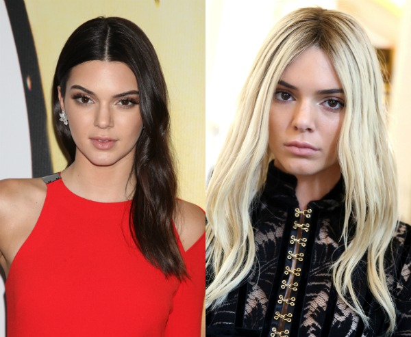 Blonde vs Brunette Kendall Jenner