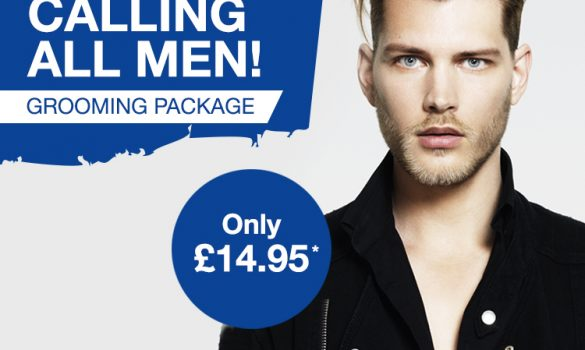 New In Salon: Men's £14.95 Grooming Package
