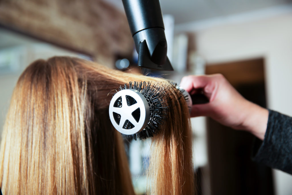 istock hair blow dry