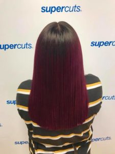 Straight hair red ombre Supercuts UK
