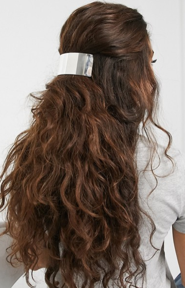 Hair ideas ASOS Weekday metal hair clip in silver