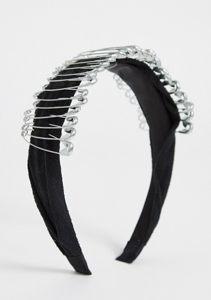 Hair ideas ASOS safety pin hairband