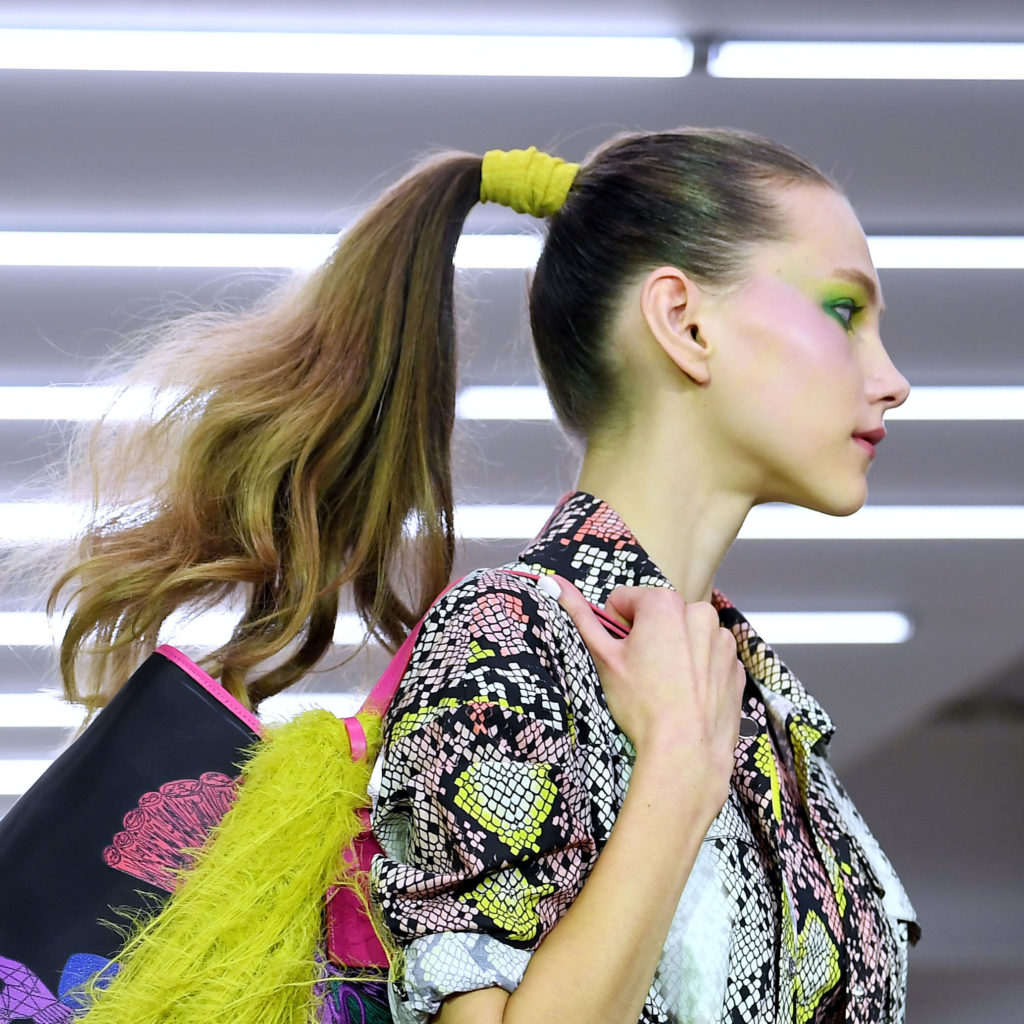 Hair ideas Mark Fast show, Runway, Spring Summer 2020, London Fashion Week, UK - 13 Sep 2019
