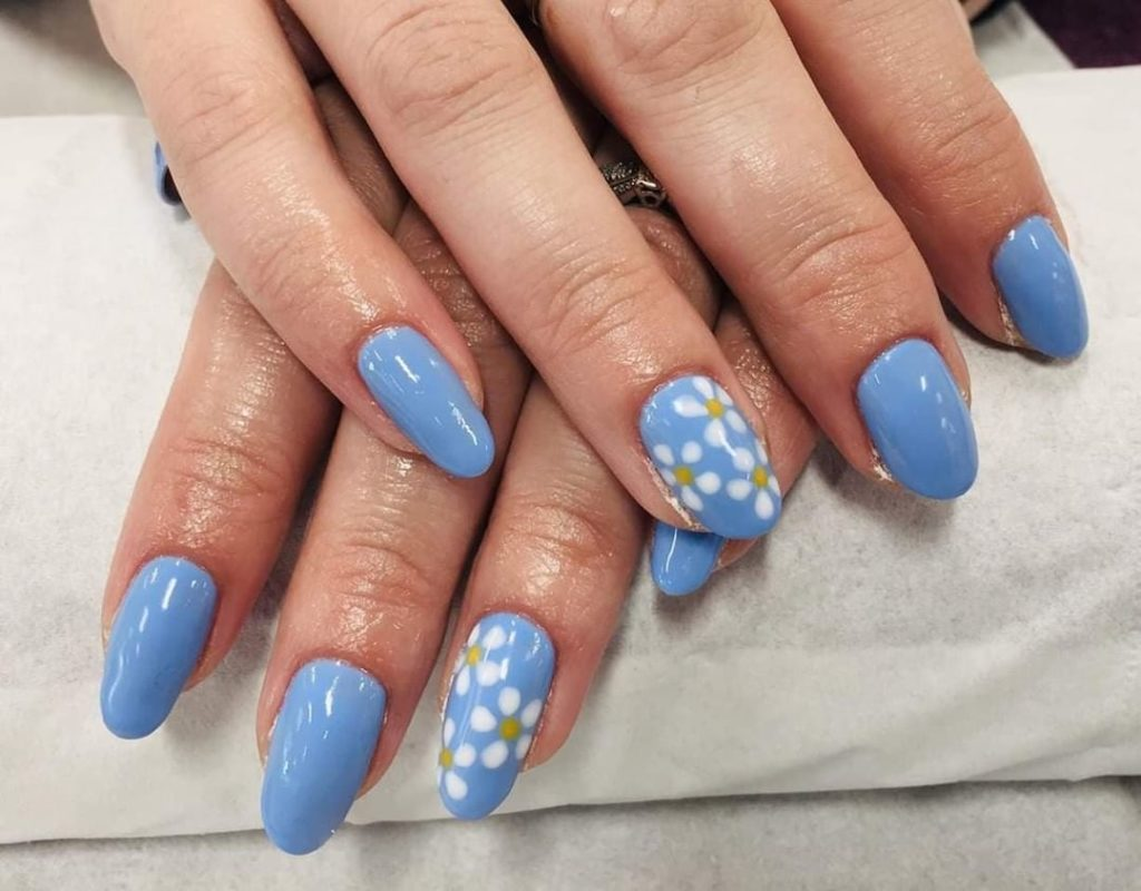 nail trends opi blue floral