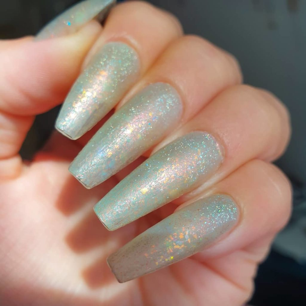 nail trends sea glass pastel sparkle nails