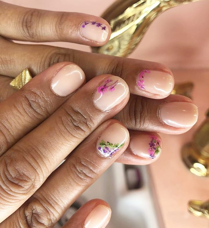 nail trends intricate floral pattern