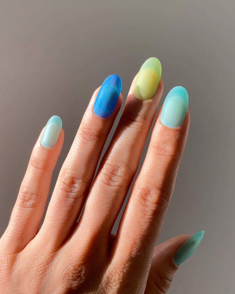 nail trends sea glass pastels