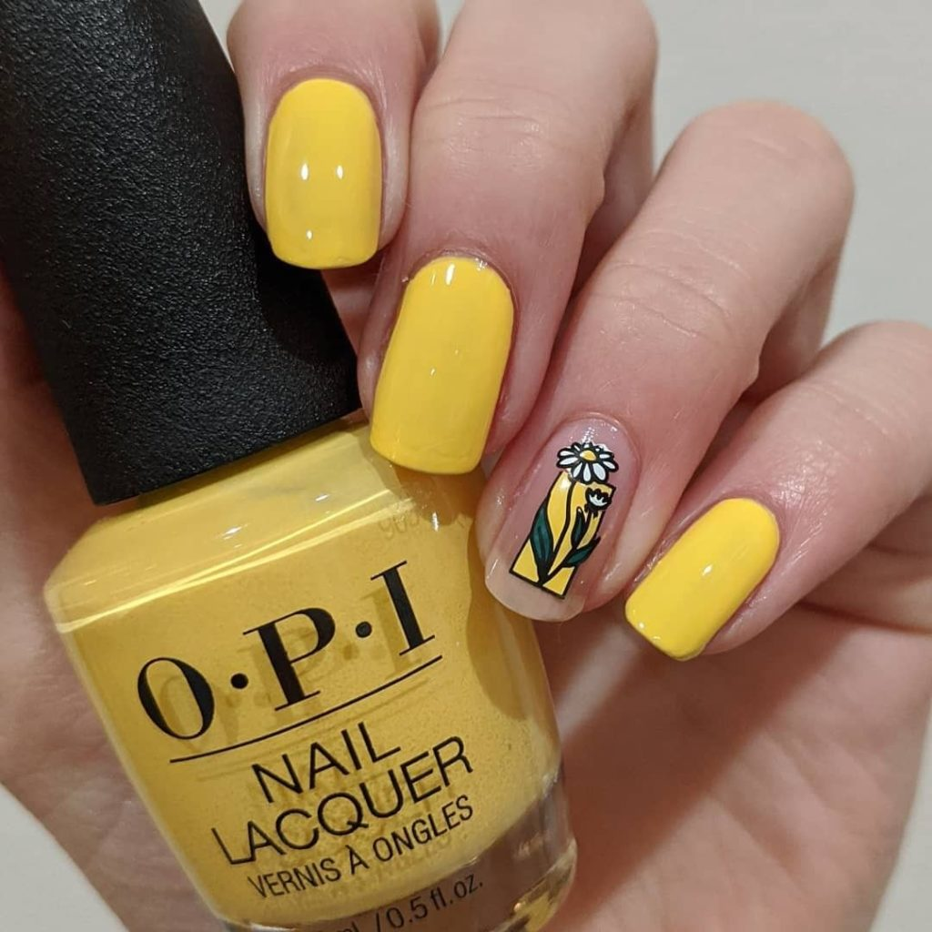 nail trends opi yellow floral
