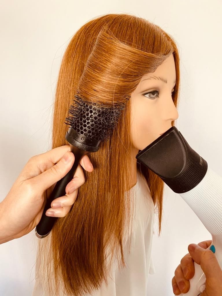 Blow dry away from face