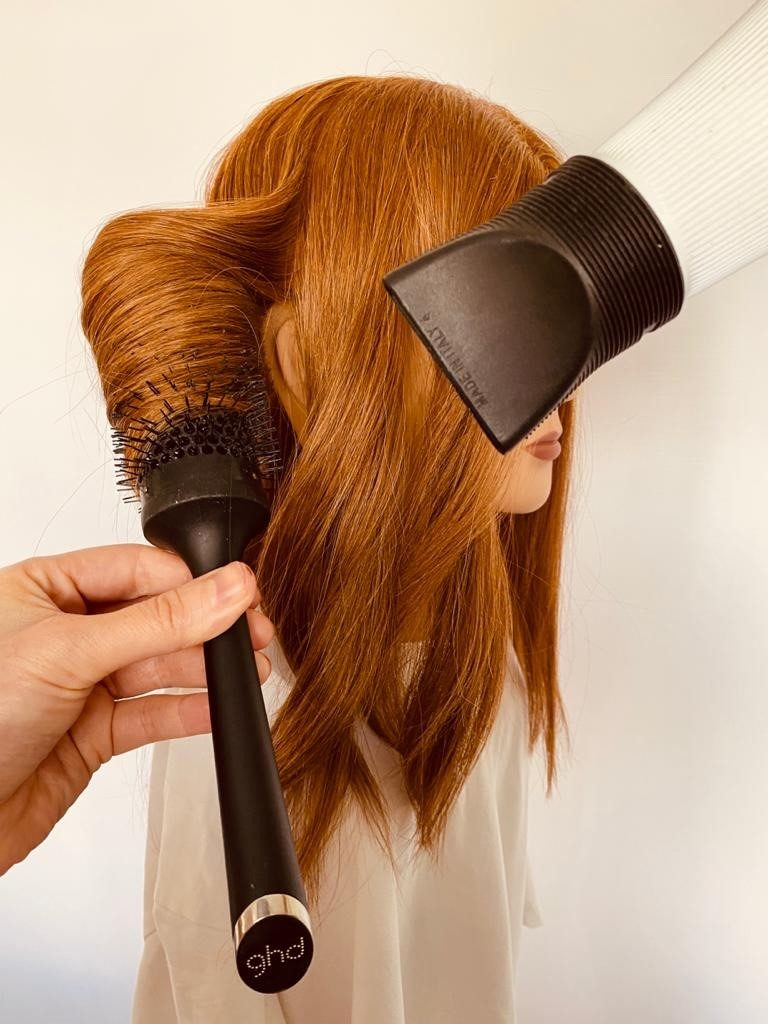 Blow dry, cool before releasing