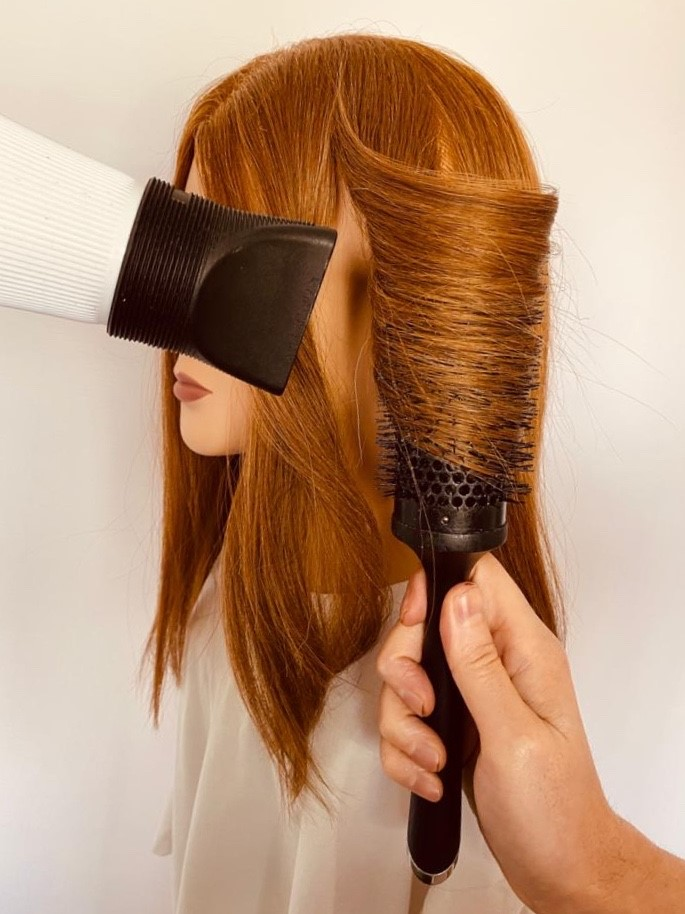 Blow dry repeat method on opposite side